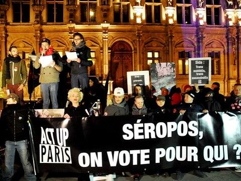 1/12/16 : Manifestation Act Up pour la journée mondiale contre le sida