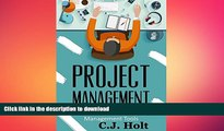 PDF ONLINE Project Management: 26 Game-Changing Project Management Tools (Project Management, PMP,