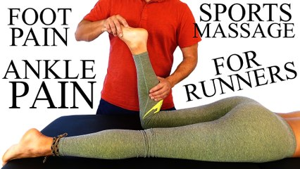 Sports Massage Techniques For Ankle Pain, Runners & Foot Problems – Plantar Fasciitis