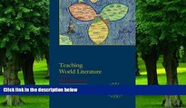 Pre Order Teaching World Literature (Options for Teaching)  On CD
