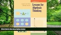 Pre Order Lessons for Algebraic Thinking: Grades K-2 (Lessons for Algebraic Thinking Series)