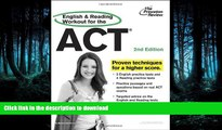 FAVORITE BOOK  English and Reading Workout for the ACT, 2nd Edition (College Test Preparation)