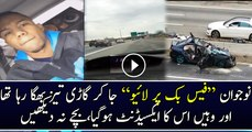 Reckless Driver Videos Himself Speeding On Facebook Live Before Accident