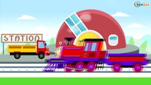 Trains Cartoons for Children - Choo Choo Train - Learn Shapes, Colors and Counting | Video for Kids