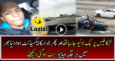 A Reckless Driver Was Live on Facebook During Accident of His Car