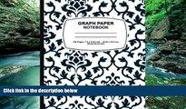 Online graph paper composition book graph paper composition book: Blue Damask Design,Graph Paper