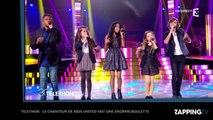 Téléthon : Le chanteur des Kids United invite le public à se lever, gros malaise sur le plateau (Vidéo)