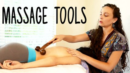 Relaxing Back Massage Techniques, 5 Massage Tools for Pain Relief by HealthandYoga.com
