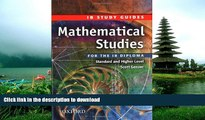 Pre Order Mathematical Studies for the IB Diploma: Study Guide (International Baccalaureate) Scott