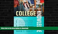 Hardcover College Knowledge: What It Really Takes for Students to Succeed and What We Can Do to