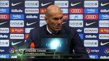 """Clasico - Zidane: """"On aurait mérité de marquer les premiers"""""""