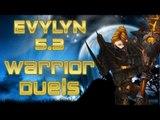 Evylyn - WOW MOP 5.3 Warrior duels (on us darkspear) Warrior vs Mage rogue hunter - 5.3 warrior PVP