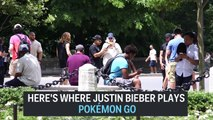 Where Justin Bieber plays Pokémon GO