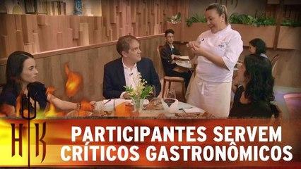 Participantes servem críticos gastronômicos convidados