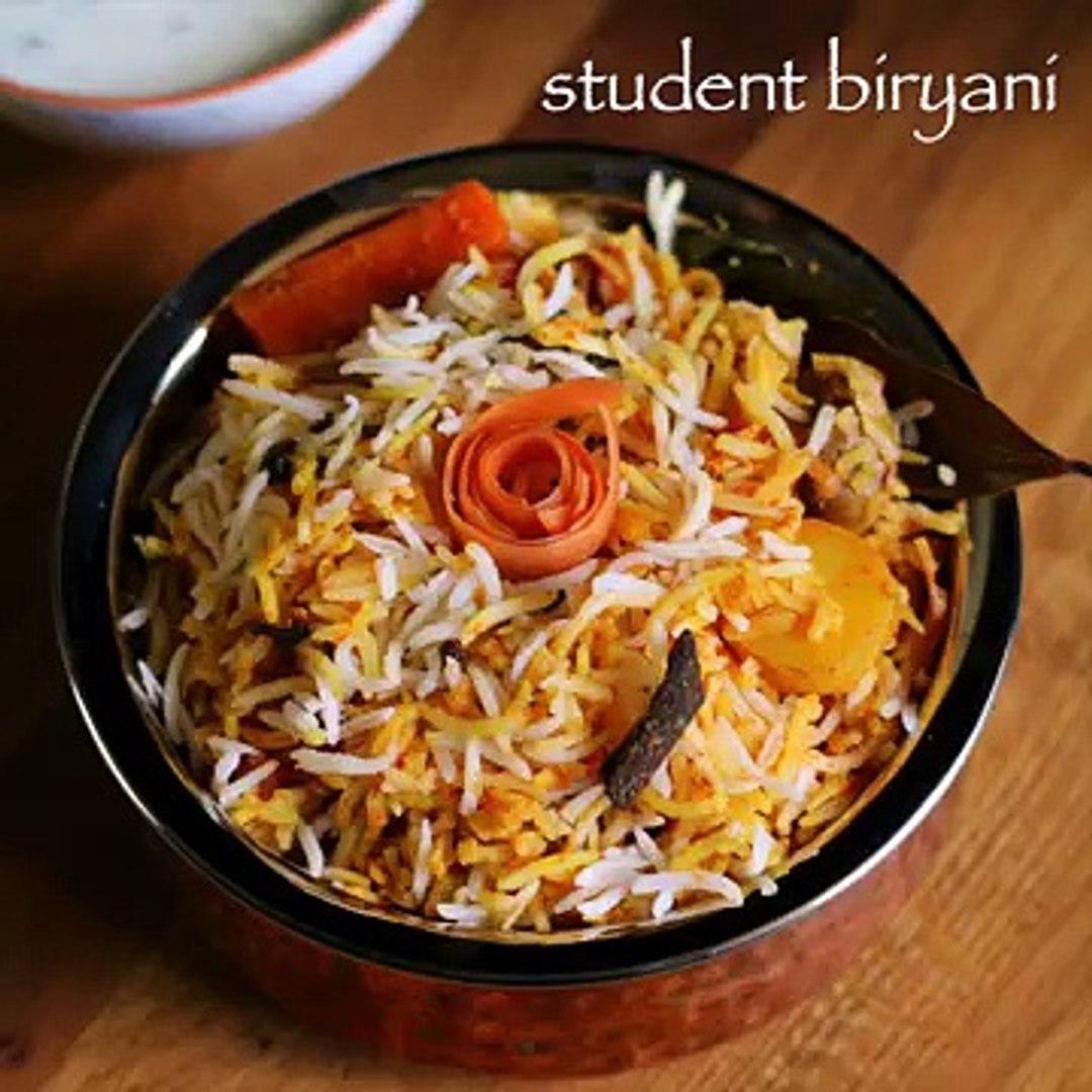 veg biryani recipe _ student biryani recipe _ veg student biryani recipe