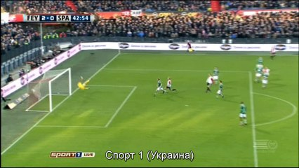 Гол Йенс Торнстра · Фейеноорд (Роттердам) - Спарта (Роттердам) - 2:0
