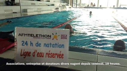 24 heures de natation pour le Téléthon à Moreuil (80)