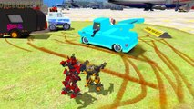 Transformers Stinger and Optimus Prime & Bumblebee Disney cars Yeti & Elvis Childrens Songs #2