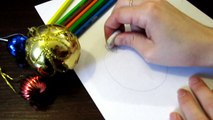 Как быстро нарисовать новогодние игрушки How fast to draw Christmas toys for children