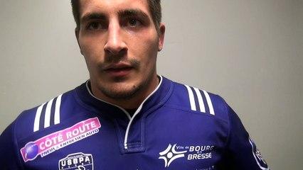 Rugby Fédérale 1 - Benjamin Doy réagit après USB - Aubenas