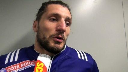 Rugby Fédérale 1 - Anthony Frenet réagit après USB - Aubenas