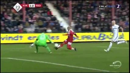 But de Saadi contre Anderlecht! Son 10ème de la saison