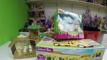FUN CALICO CRITTERS SCHOOL HOUSE Playset + MEGA HUGE SURPRISE EGG TOYS Learning Science Schoolbus