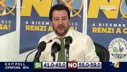Salvini - Vittoria del popolo contro i poteri forti di tutto il mondo - Referendum