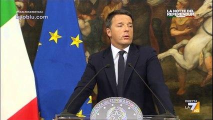 Matteo Renzi si dimette: il discorso in diretta.