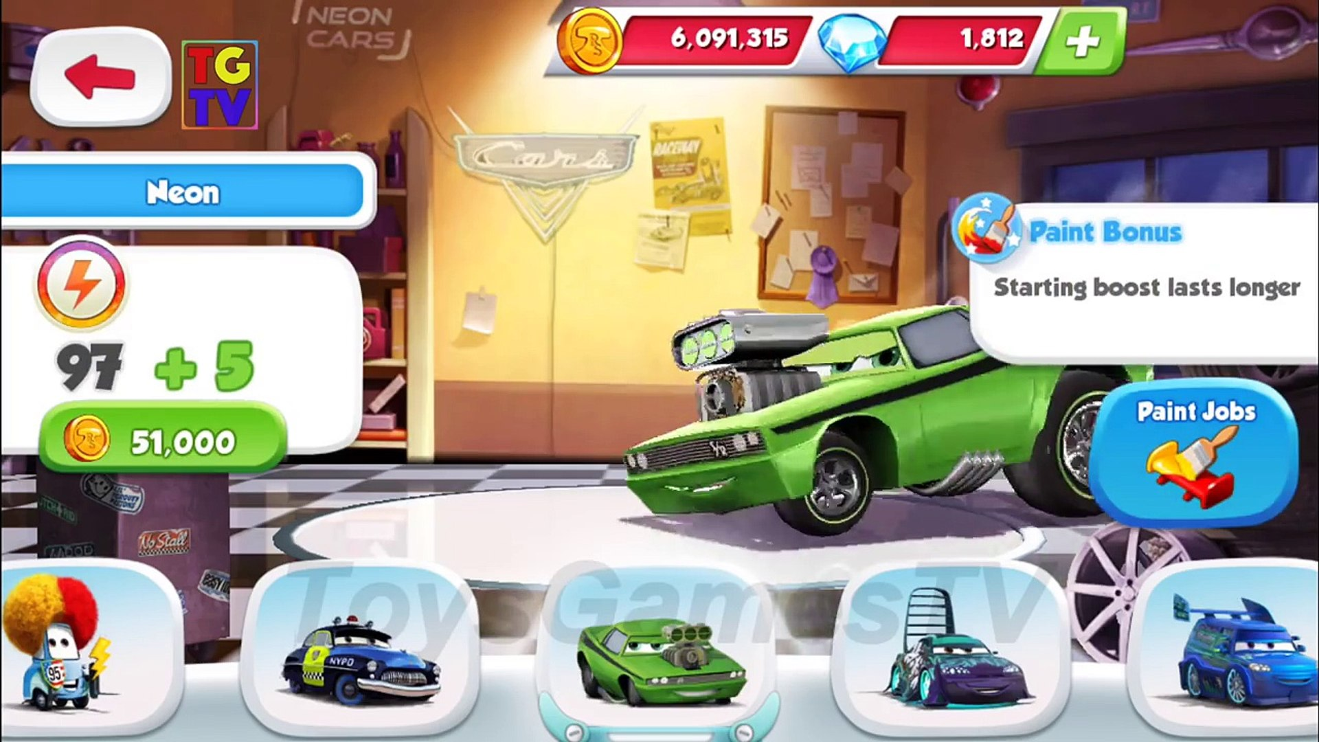 Disney Pixar Cars Snotrod 4 Screen Race Paint Jobs Cars Fast As Lightning Video Dailymotion