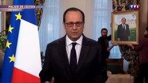 Déménagement de François Hollande pendant son discours d'adieu - parodie hilarante