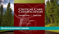 READ Critical Care Certification: Preparation, Review, and Practice Exams Thomas Ahrens Full