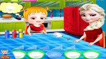 NỮ HOÀNG ELSA dạy BÉ NA học màu sắc và chơi trộn màu ở nhà bếp