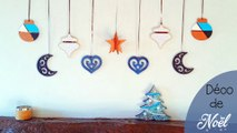 DIY - Tuto, décoration boules de Noël en bois ! Lune, cœur, goutte, étoile 3D, boule !