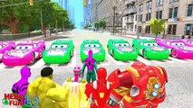 Disney Cars Lightning McQueen SPIDERMAN HULK IRON MAN SKATEBOARD PARTY & Nursery Rhymes SONGS