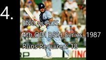Top 5 Most Epic Last Over Finishes in ODI Cricket History