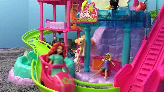 Polly Pocket Roller Coaster Ride Frozen Elsa Anna Merida Hans Barbie Toys DisneyCarToys