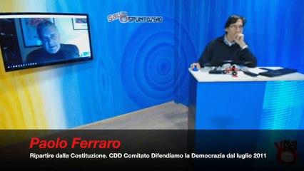 144 A RIPARTIRE DALLA COSTITUZIONE CDD Comitato Difendiamo la Democrazia dal luglio 2011