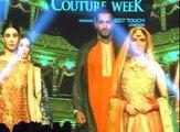 Chai wala Arshad Khan all smiles while walking the ramp at Bridal Couture Week