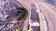 VTT - Fabio Wibmer sur son VTT en équilibre sur un barrage de 200 m de haut et sa pratique du Street Trial