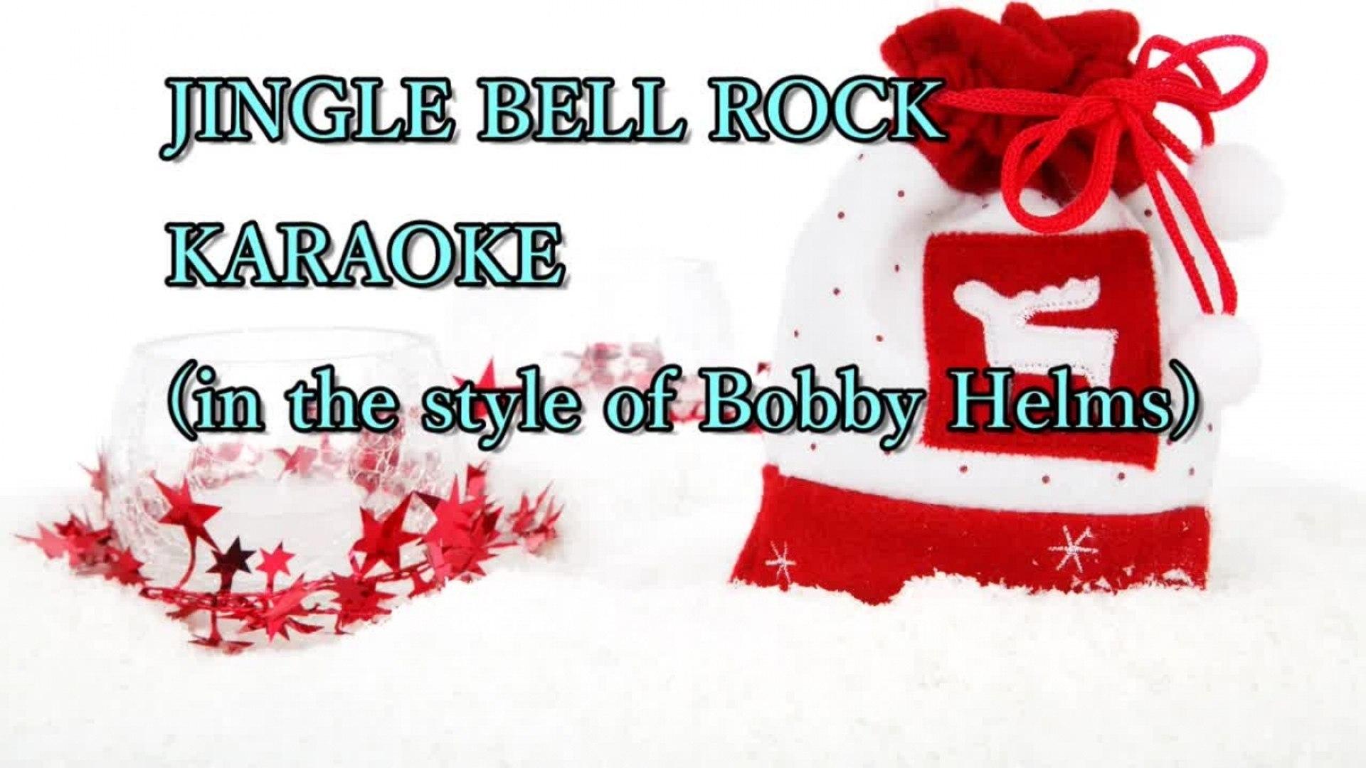 Christmas Songs - Jingle Bell Rock - BEST KARAOKE in style of BOBBY HELMS - with lyrics on screen
