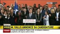 """Manuel Valls: """"Oui, je suis candidat à la Présidence. Je ne peux plus être Premier Ministre, je quitterai mes fonctions"""