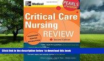 {BEST PDF |PDF [FREE] DOWNLOAD | PDF [DOWNLOAD] Critical Care Nursing Review: Pearls of Wisdom,