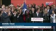 Primaire à gauche: Manuel Valls candidat, démissionnera mardi du gouvernement de François Hollande