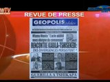 REVUE DE PRESSE & JT DU 05/12/2016: Rencontre Kabila et Président Tshisekedi: des divergences persistent