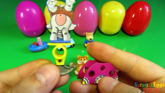 10 Surprise Eggs! Kinder Masha i Medved CARS 2 Winx Club HELLO KITTY SpongeBob Peppa Pig eggs