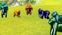 Learn Wild Animals & Animals Sounds Finger Family Dinosaurs For Kids Elephant Wild Animals Attack 3D