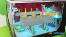 Disney Cars Toys Precision Series Flos V8 Cafe Lightning McQueen Egg Surprise Toys Ryan ToysReview