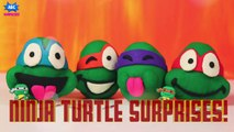 TMNT Play Doh Surprise Eggs Opening Teenage Mutant Ninja Turtles Surprises for Kids by ABC Surprises