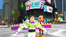 Toy Story Buzz Lightyear & Disney Mickey Mouse - Disney Pixar Animation w/ Lightning McQueen Cars